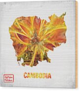 The Map Of Cambodia Wood Print