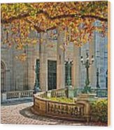 The Marble House In Autumn Wood Print