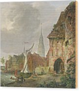 The March Gate In Buxtehude Wood Print by Adolph Kiste