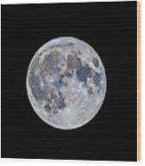 The March Mini-moon Wood Print