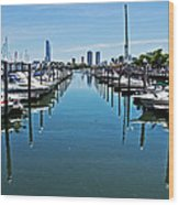 The Marina At The Golden Nugget Wood Print by Tom Gari Gallery-Three-Photography