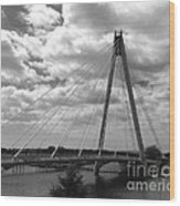 The Marine Road Bridge Southport Wood Print