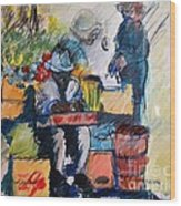 The Marketplace Wood Print