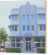 The Marlin Hotel Wood Print