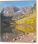 The Maroon Bells Near Aspen Colorado Wood Print
