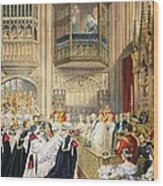 The Marriage At St Georges Chapel Wood Print