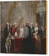 The Marriage Of The Duke And Duchess Of York Wood Print by Henry Singleton