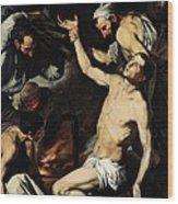 The Martyrdom Of Saint Lawrence Wood Print by Jusepe de Ribera