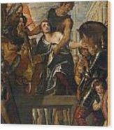 The Martyrdom Of Saint Mena Wood Print