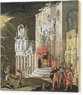 The Martyrdom Of St. Catherine, 17th Wood Print