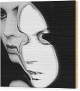 The Mask Wood Print by Gun Legler