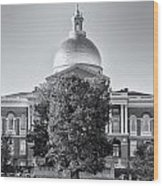 The Mass State House Wood Print