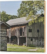 The Mathias Homestead Built In 1797 At Mathias West Virginia Wood Print