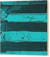 The Max Face In Turquois Wood Print