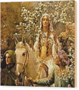 The Maying Of Queen Guinevere Wood Print