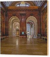 The Mcgraw Rotunda At The New York Public Library Wood Print