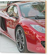 The Mclaren Apple Red Collection  Wood Print