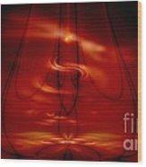 The Meditator Wood Print