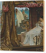 The Meeting Of Antony And Cleopatra  41 Bc Wood Print