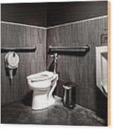 The Mens Room Wood Print