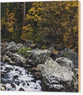 The Merced River Wood Print