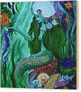 The Mermaid Wood Print