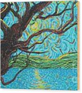 The Mermaid Tree Wood Print