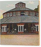 The Merry-go-round In Willow Grove Park Pa Around 1910 Wood Print