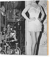 The Merry Widow, Lana Turner On Set Wood Print