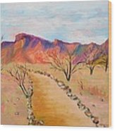 The Mesquite Trail Arizona Wood Print