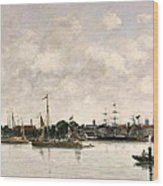 The Meuse At Dordrecht Wood Print