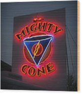 The Mighty Cone Of Austin Texas Wood Print