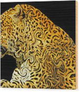 The Mighty Panthera Pardus Wood Print