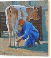 The Milkman Wood Print