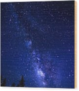 The Milky Way Over Cranberry Wilderness Wood Print