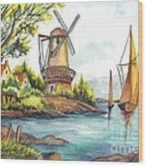 The Olde Mill Wood Print