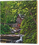 The Mill Paint 2 Wood Print