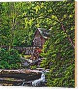 The Mill Paint 2 Wood Print by Steve Harrington