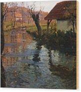 The Mill Stream Wood Print