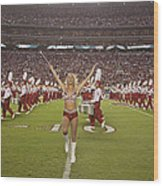 The Million Dollar Marching Band Of The University Of Alabama Wood Print