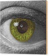 The Minds Eye Black And White Wood Print