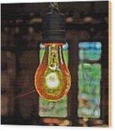 The Miner Light Wood Print