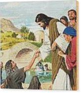 The Miracles Of Jesus  Making The Lame Man Walk Wood Print