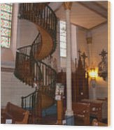 The Miraculous Staircase Wood Print