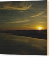 The Missouri River At Sunset South Of Culbertson Mt  Wood Print