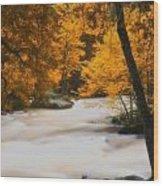 The Mist Wood Print