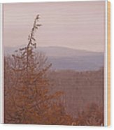 The Misty Mountains On A Misty Day Wood Print