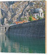 The Moat Of Kotor Wood Print