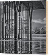 The Modern Bw Wood Print