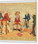The Modern Job Or John Bull And His Comforts Wood Print